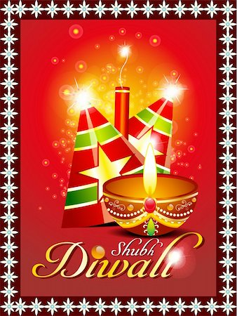 fireworks vector art - abstract diwali background with sparkle vector illustration Stock Photo - Budget Royalty-Free & Subscription, Code: 400-06392766
