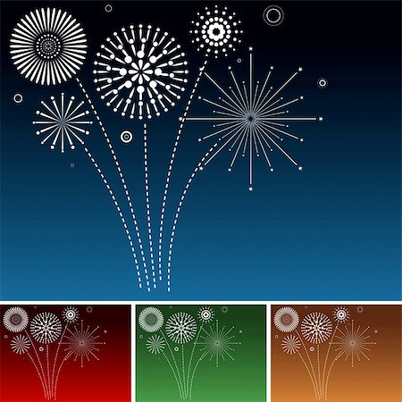 fireworks illustrations - Fireworks - Background Illustration, Vector Stock Photo - Budget Royalty-Free & Subscription, Code: 400-06409390