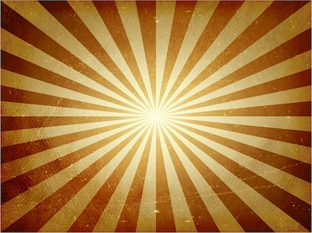 Abstract vintage background with light burst in golden brown. Grunge elements give it a textured and aged feeling. Stock Photo - Budget Royalty-Free & Subscription, Code: 400-06409825