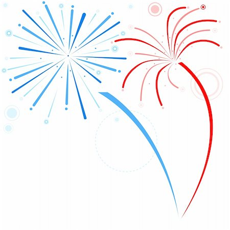 fireworks illustrations - Fireworks - Holiday Background Illustration, Vector Stock Photo - Budget Royalty-Free & Subscription, Code: 400-06415649