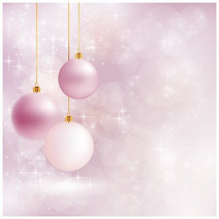 pretty pink star white background - Abstract soft blurry background with baubles, bokeh lights, and stars. The festive feeling makes it a great backdrop for Christmas designs. Copyspace. Stock Photo - Budget Royalty-Free & Subscription, Code: 400-06415793