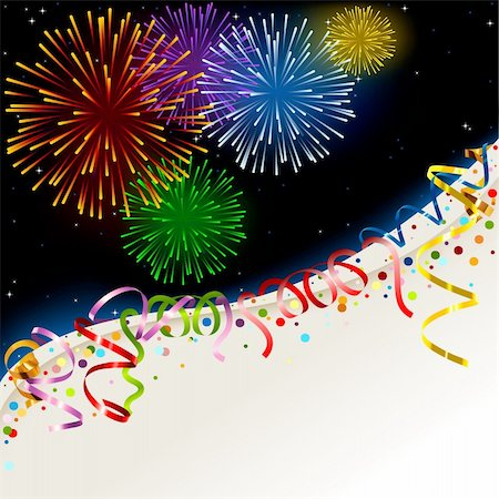 firework illustration - Celebration card - Holiday Background Illustration, Vector Stock Photo - Budget Royalty-Free & Subscription, Code: 400-06416200
