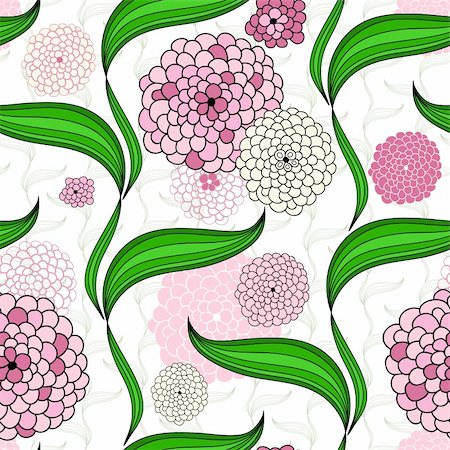 pink and purple fireworks - Spring seamless floral pattern with pink flowers (vector) Stock Photo - Budget Royalty-Free & Subscription, Code: 400-06416266