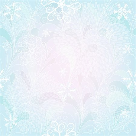 Seamless blue-white christmas pattern with chaotic snowflakes and fireworks (vector EPS 10) Stock Photo - Budget Royalty-Free & Subscription, Code: 400-06417305