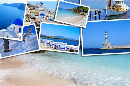 Set of summer photos in Santorini island, Greece Stock Photo - Budget Royalty-Free & Subscription, Code: 400-06418641