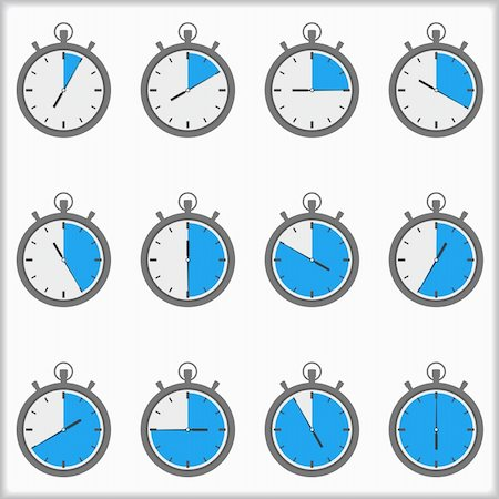 Set of timer icons, vector eps10 illustration Stock Photo - Budget Royalty-Free & Subscription, Code: 400-06418888