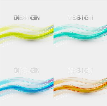 Vector smooth blurred wave abstract background Stock Photo - Budget Royalty-Free & Subscription, Code: 400-06411796