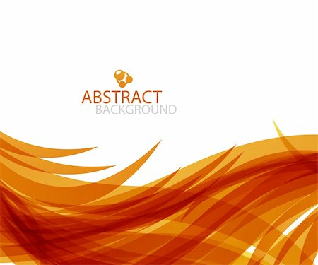vector orange wave fire abstract background Stock Photo - Budget Royalty-Free & Subscription, Code: 400-06412237