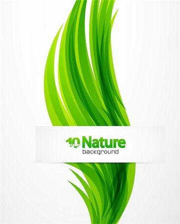 Nature abstract vector background with waves Stock Photo - Budget Royalty-Free & Subscription, Code: 400-06412248