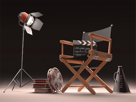Objects of the film industry, the concept of cinema. Stock Photo - Budget Royalty-Free & Subscription, Code: 400-06425290