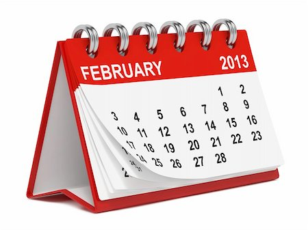 Red Desktop Calendar for 2013 on White Background Stock Photo - Budget Royalty-Free & Subscription, Code: 400-06425917