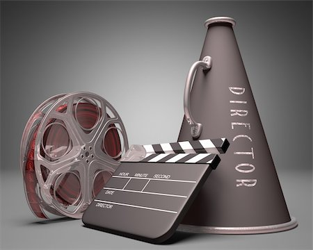 Important objects in the use of film industry and entertainment Stock Photo - Budget Royalty-Free & Subscription, Code: 400-06422930