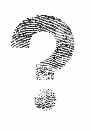question mark crime - A Question mark made of a real fingerprint. Stock Photo - Budget Royalty-Free & Subscription, Code: 400-06423001