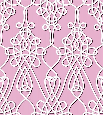 svetap (artist) - Flower seamless background. Vintage floral keltik Irish wallpaper. Texture vector illustration. Pattern celtic style. Stock Photo - Budget Royalty-Free & Subscription, Code: 400-06423513