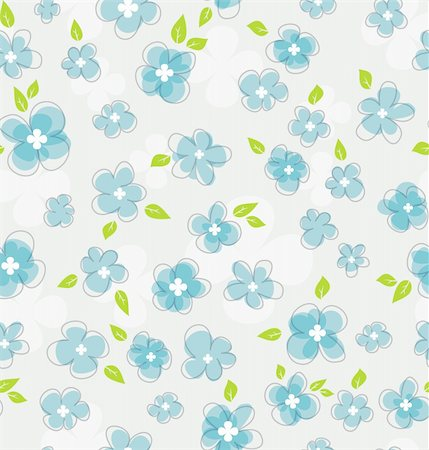 Vector illustration of Floral seamless pattern Stock Photo - Budget Royalty-Free & Subscription, Code: 400-06454217