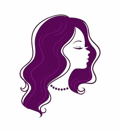 Vector illustration of Woman's silhouette Stock Photo - Budget Royalty-Free & Subscription, Code: 400-06454219