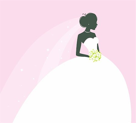 Vector illustration of Beautiful bride Stock Photo - Budget Royalty-Free & Subscription, Code: 400-06454333