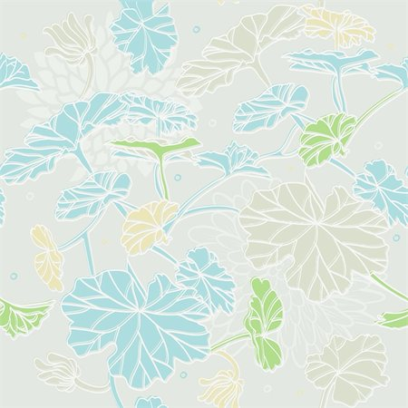 Vector illustration of Floral seamless pattern Stock Photo - Budget Royalty-Free & Subscription, Code: 400-06454797
