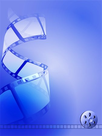 film strip - vector abstract blue tone film background, eps10, transparent used Stock Photo - Budget Royalty-Free & Subscription, Code: 400-06454960