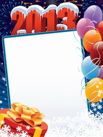 New Year decoration ready for your message Stock Photo - Budget Royalty-Free & Subscription, Code: 400-06455628