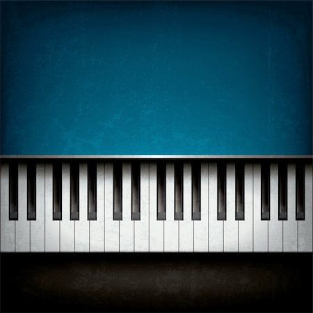 sheet music background - Abstract grunge music background with blue piano Stock Photo - Budget Royalty-Free & Subscription, Code: 400-06455964