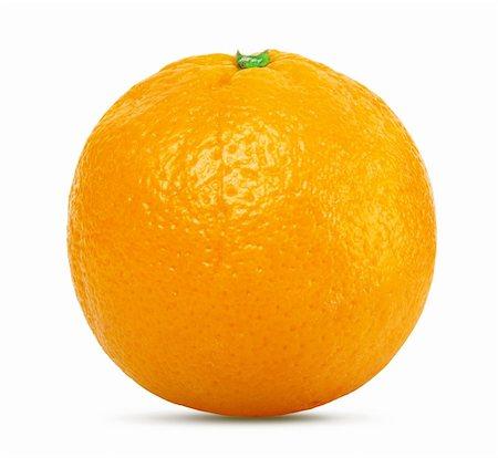 Orange isolated on white background Stock Photo - Budget Royalty-Free & Subscription, Code: 400-06456204