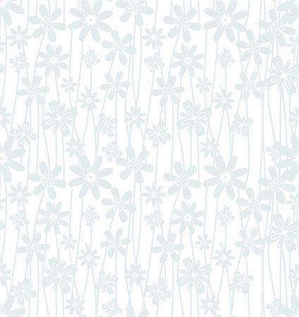 Vector illustration of Floral seamless pattern Stock Photo - Budget Royalty-Free & Subscription, Code: 400-06456247