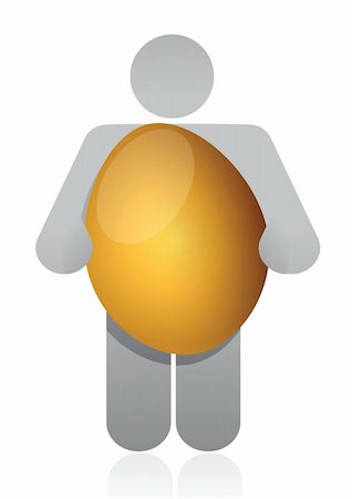 icon holding golden egg illustration design over white Stock Photo - Budget Royalty-Free & Subscription, Code: 400-06464198