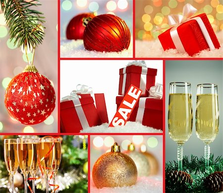 simsearch:400-05749231,k - Collection of Christmas symbols Stock Photo - Budget Royalty-Free & Subscription, Code: 400-06461376
