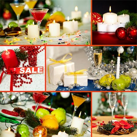 simsearch:400-05749231,k - Collage of Christmas objects and symbols Stock Photo - Budget Royalty-Free & Subscription, Code: 400-06461378