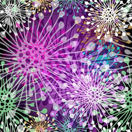 pink and purple fireworks - Seamless pattern with bright colorful  transparent spots on dark background (vector EPS 10) Stock Photo - Budget Royalty-Free & Subscription, Code: 400-06477929