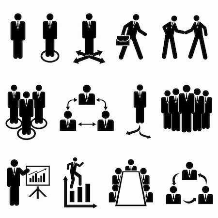 soleilc (artist) - Businessmen, teams and teamwork icons Stock Photo - Budget Royalty-Free & Subscription, Code: 400-06477962