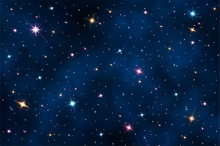 Night sky with stars Stock Photo - Budget Royalty-Free & Subscription, Code: 400-06479542