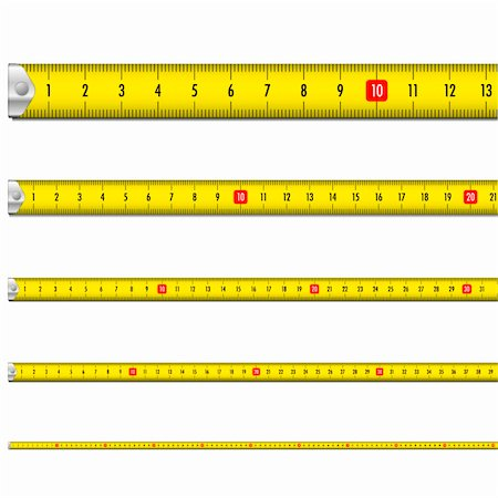 illustration of a yellow measure tape Stock Photo - Budget Royalty-Free & Subscription, Code: 400-06472161