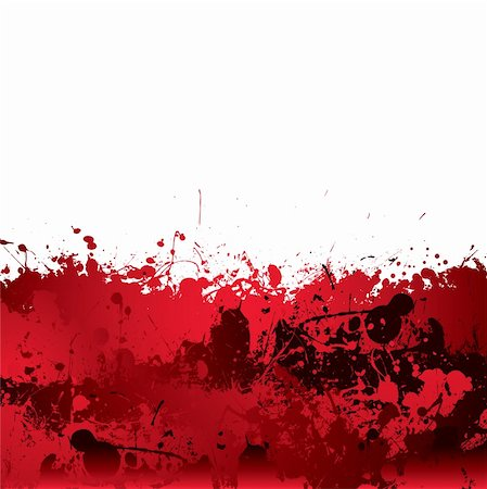 spilling blood texture - Red blood splatter background with dribble effect Stock Photo - Budget Royalty-Free & Subscription, Code: 400-06472214