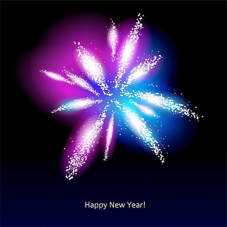 firework illustration - Vector illustration of fireworks over a dark background Stock Photo - Budget Royalty-Free & Subscription, Code: 400-06472840