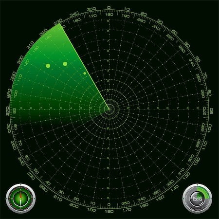 scope - Detailed Illustration of a Radar Screen Stock Photo - Budget Royalty-Free & Subscription, Code: 400-06473481