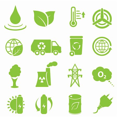 soleilc (artist) - Ecology and environment icon set Stock Photo - Budget Royalty-Free & Subscription, Code: 400-06473844