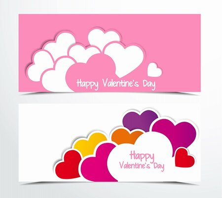 two color background with hearts Stock Photo - Budget Royalty-Free & Subscription, Code: 400-06484620