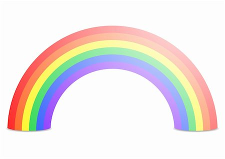 illustration of a rainbow isolated on white Stock Photo - Budget Royalty-Free & Subscription, Code: 400-06484729