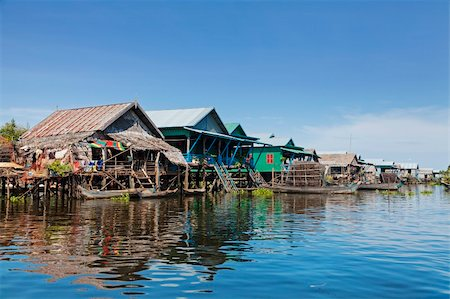 flooded homes - Floating fishing village Kampong Phluk on Tonle Sap Lake in Cambodia Stock Photo - Budget Royalty-Free & Subscription, Code: 400-06481550
