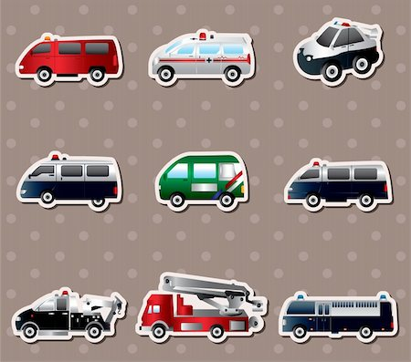 Vector illustration of different types car stickers Stock Photo - Budget Royalty-Free & Subscription, Code: 400-06514027