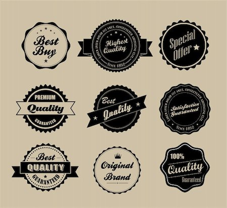 Retro vintage labels in editable vector format Stock Photo - Budget Royalty-Free & Subscription, Code: 400-06516480