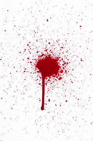 A high resolution image of blood droplets and splats close up. Halloween and horror! Stock Photo - Budget Royalty-Free & Subscription, Code: 400-06513947