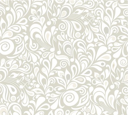 Decorative vector musical floral seamless background with notes and leaves Stock Photo - Budget Royalty-Free & Subscription, Code: 400-06524408