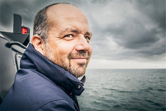 An image of a man at the bad sea Stock Photo - Royalty-Free, Artist: magann, Image code: 400-06527331