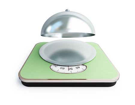scalable - bathroom scale open tray on a white background Stock Photo - Budget Royalty-Free & Subscription, Code: 400-06527527