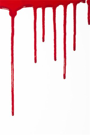 A high resolution image of blood drips and drops for horror and halloween Stock Photo - Budget Royalty-Free & Subscription, Code: 400-06527666