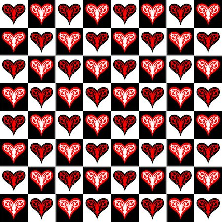 Seamless texture with Valentines hearts Stock Photo - Budget Royalty-Free & Subscription, Code: 400-06529313