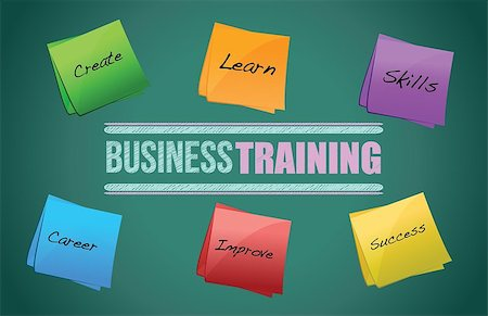 business training colorful diagram graphic illustration design Stock Photo - Budget Royalty-Free & Subscription, Code: 400-06523829
